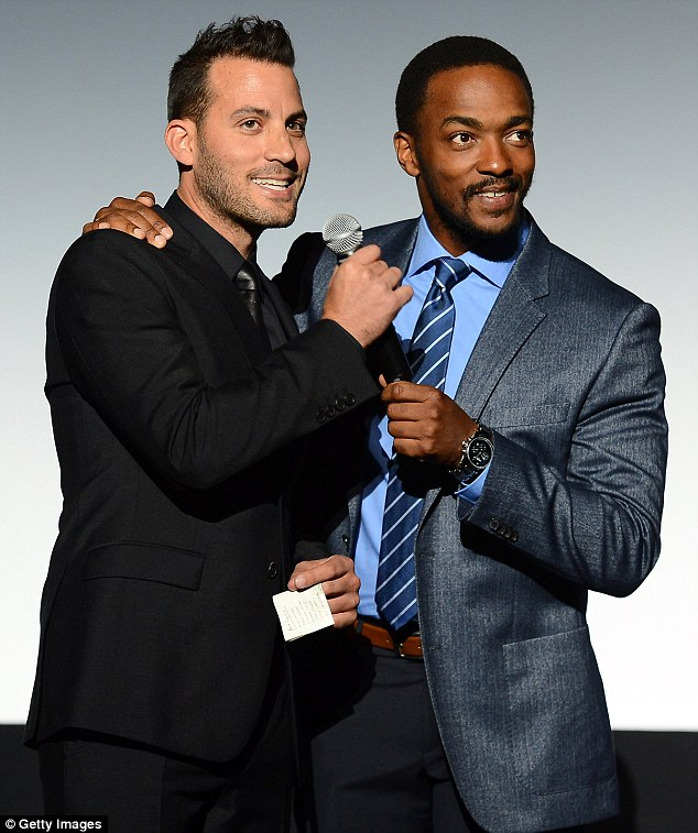 Talented bunch: Director Brad Furman, who also helmed the Matthew McConaughey vehicle The Lincoln Lawyer, shared the mic with Mackie as he addressed their fans