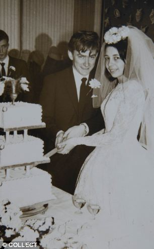 'Deep regard' for marriage: Peter and Hazelmary cut the cake on their wedding day on December 19 1964