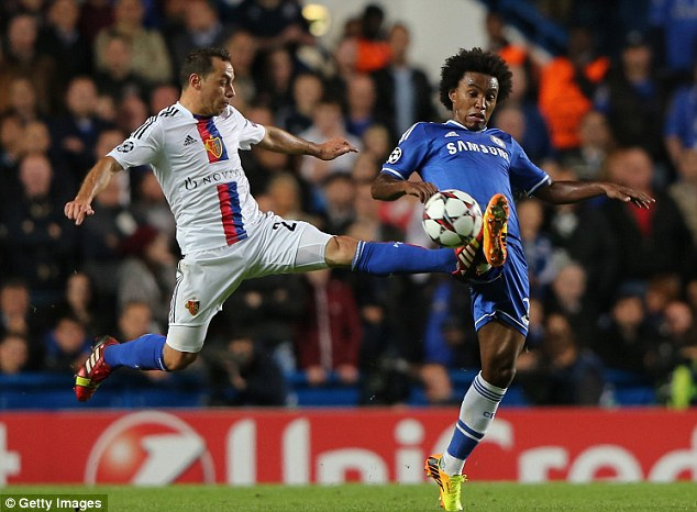 Up the ante: Chelsea wound up Spurs by beating them to the signature of Willian