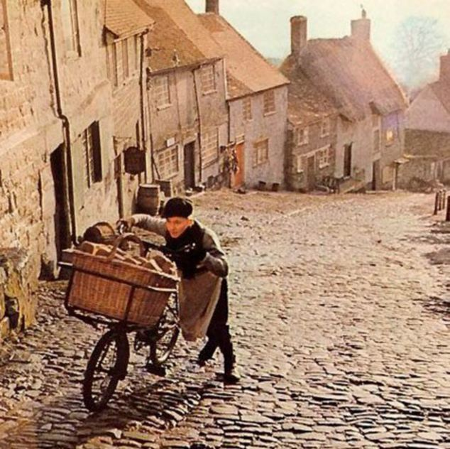 Picture from the Hovis advert which has been voted Britain's favourite ever ad.