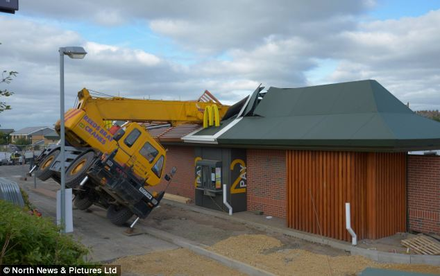 Popular: The McDonald's 'drive-thru' had been closed at the time - however, its restaurant was filled with diners