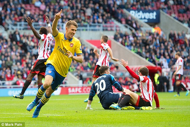 Destroyed: Arsenal dominated Sunderland when they played last weekend
