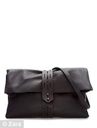 Zara worn leather clutch £79