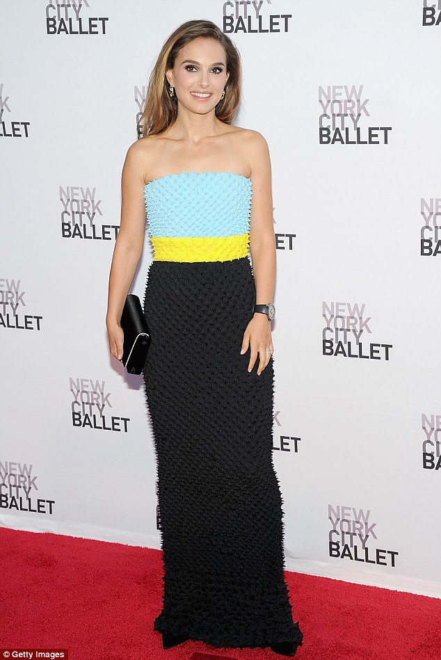 Whoa mama! Natalie Portman wowed as she attended the New York City Ballet 2013 Fall Gala on Thursday, dressed in a strapless textured colour-block column gown