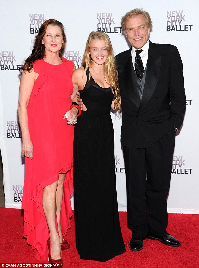 Dancing pedigree: Master And Chief of the New York City Ballet, Peter Martins, was accompanied by his wife, retired former principal dancer Darci Kistler, and daughter Talicia at the star-studded gala