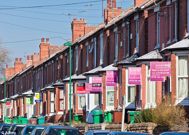 Nearing a record high: The average rental price of £743 in Britain is just £1 less than the all-time high recorded in October 2012