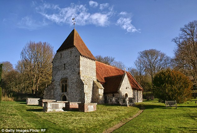 A man is believed to have cut off his testicles before bursting into All Saints Church in Hutton, Essex, shortly before a couple were due to get married