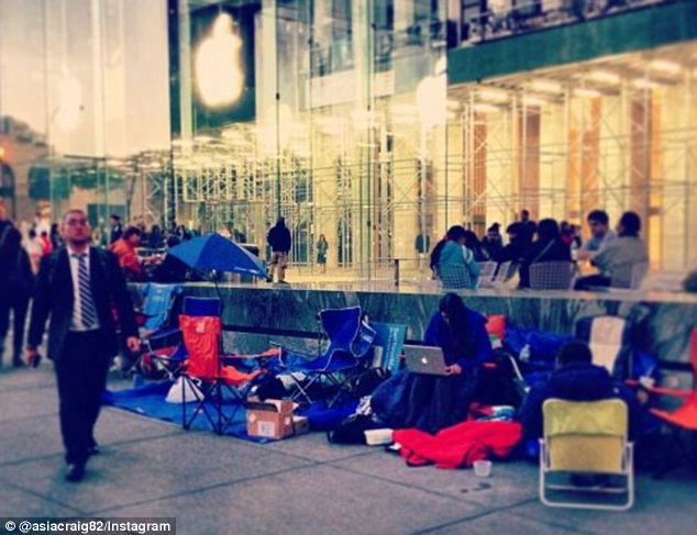 Wait is over: Wall Street analysts predicted more than two million iPhone 5s' to fly off shelves per day as the hotly-anticipated device goes on sale at 8am local time in stores across America