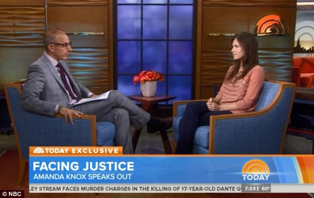 Speaking out: In the interview with Matt Lauer she said she still had nightmares about her time in prison