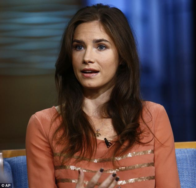 Return: Knox, pictured on the Today Show in September, has denied she had anything to do with the 2007 murder
