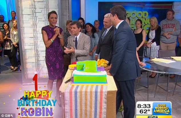 It has been one year since Robin Roberts underwent a life-saving bone marrow transplant to treat her myelodysplastic syndrome (MDS), and the GMA team made sure she celebrated in style