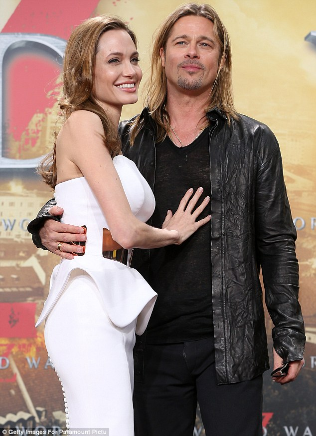 Coming in third: Brad Pitt and fiancée Angelina Jolie found themselves in third place
