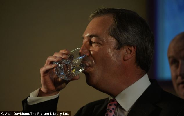 Defiant: In his main speech Mr Farage said he had succeeded in changing the national debate on Europe, immigration on Syria - but it risked by overshadowed by Mr Bloom's gaffes