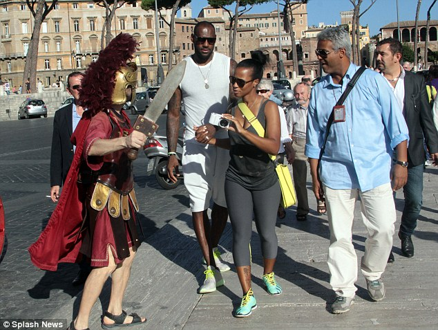 Fancy seeing you here: They fully immersed themselves in the historical surroundings, even greeting a dressed up soldier