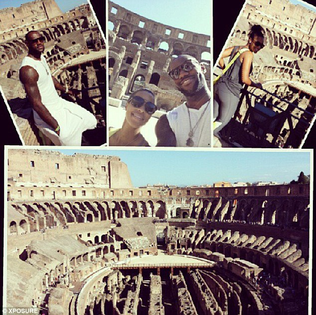 Making the most of it: LeBron also shared a montage of some of his images as they continued their celebrations abroad