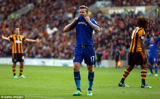Saying yes: Cardiff's Aron Gunnarsson will wear the rainbow laces