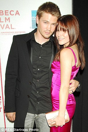 Flashback to 2005: Chad was previously married to his One Tree Hill co-star Sophia Bush (L) before briefly romancing Paris Hilton (R)