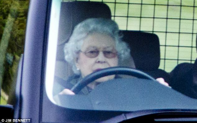 Royal driver: Her Majesty is said to be a keen driver having trained as a mechanic in the Second World War