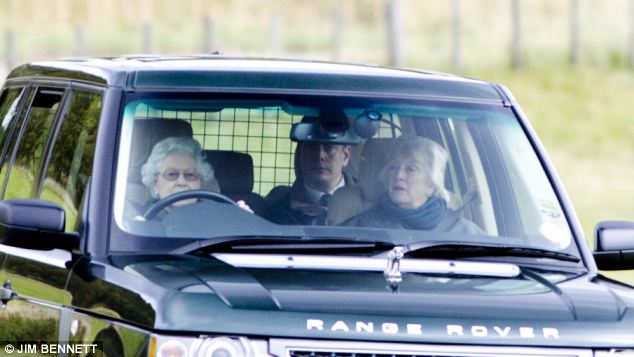 Family affair: The Queen joined the rest of the family for lunch on the Grouse Moors at Balmoral where she spends two months of the summer each year