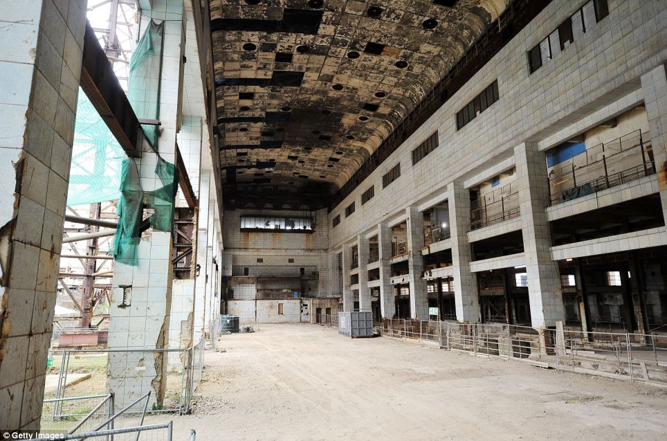 Derelict: The historic building has been left crumbling away for more than 20 years, with its iconic wooden features, art deco styling and industrial equipment hidden from public view