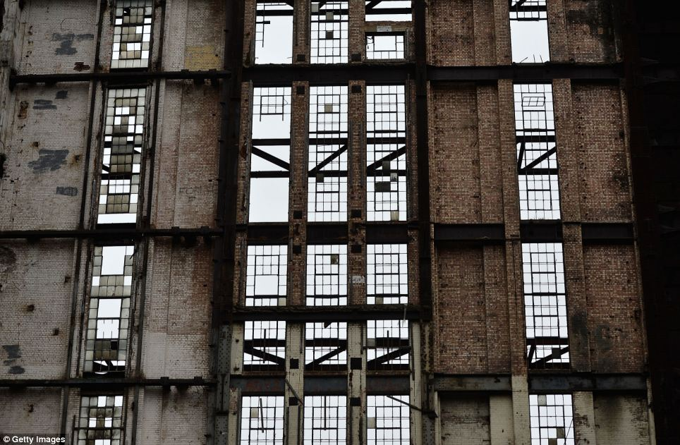 Last chance: The power station was today revealed to the public for the last time before it undergoes a radical multi-billion pound redevelopment across the whole site
