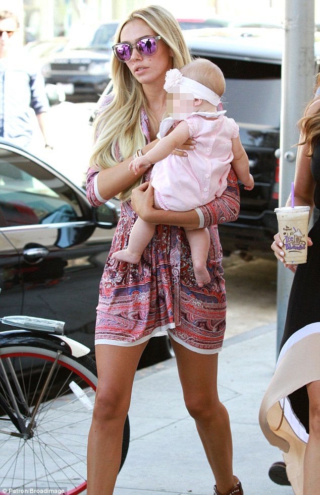Petra Ecclestone steps out with baby daughter Lavinia in Beverly Hills