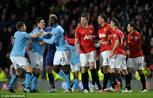 Fireworks: The Manchester derby has been a tempestuous affair in recent years