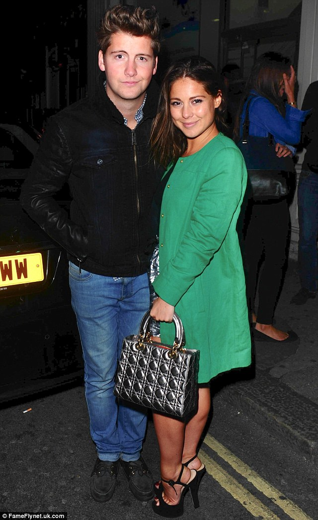 Party people: Louise visited Mahiki on Thursday night with fellow cast member, Stevie