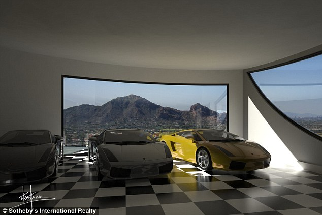 Excess: Even the garage will be fitted with floor to ceiling windows