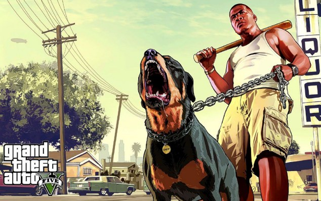 Hell hound: An image from the heavily hyped and violence-filled new computer game Grand Theft Auto V