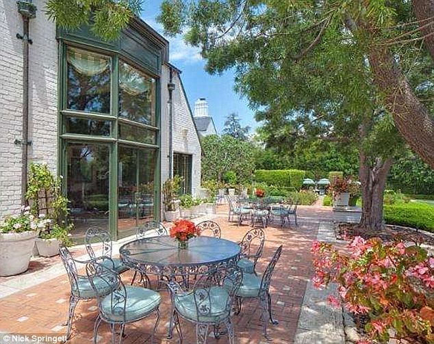 Long-time home: Gregory Peck and his wife lived in the house for 30 years