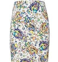 Zara printed pencil skirt, £7.99