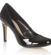 Jasper Conran Black high heel patent court shoes, £37, Debenhams