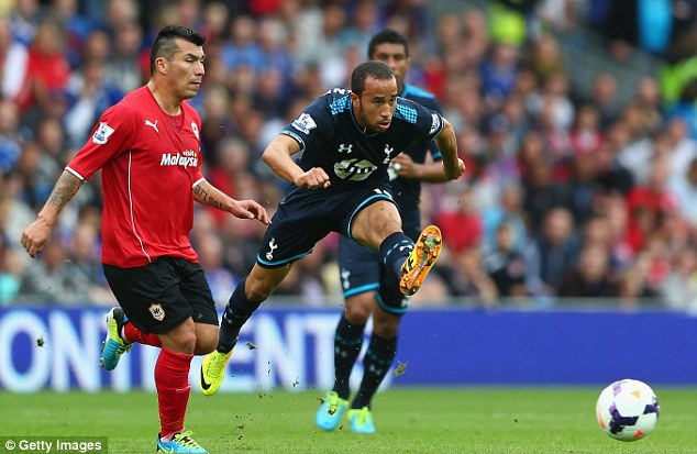 On the ball: Townsend tries to force the issue as Gary Medel watches on