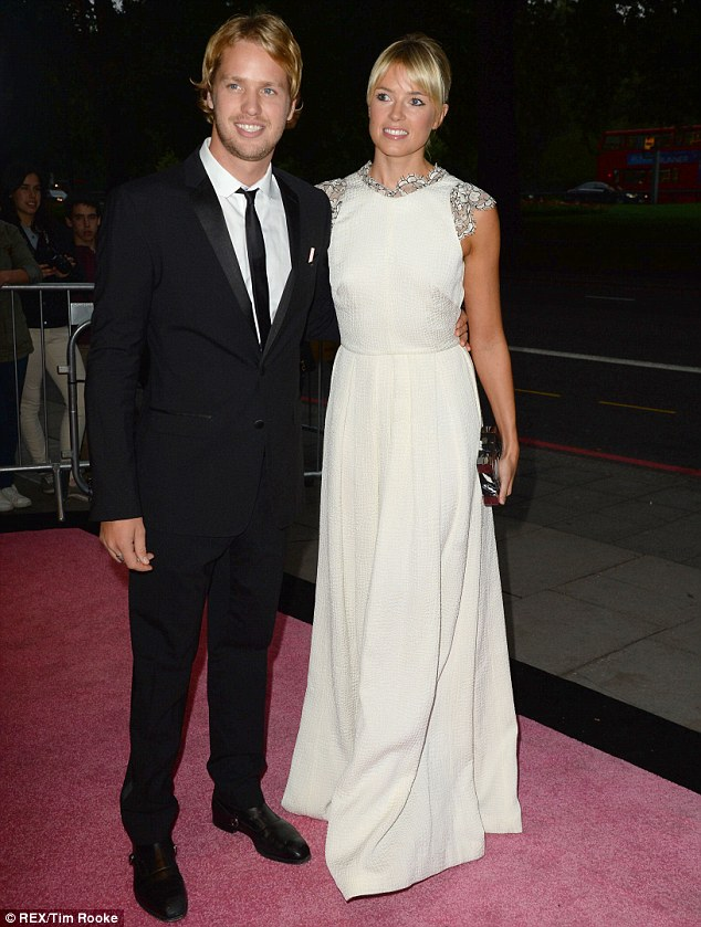 Monochrome: Sam Bronson made it a date night with wife Isabella Calthorpe as they both headed out in black and white