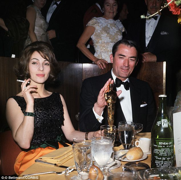 Oscar winner: Peck and his wife on the night when he won an Oscar for the film, To Kill a Mockingbird