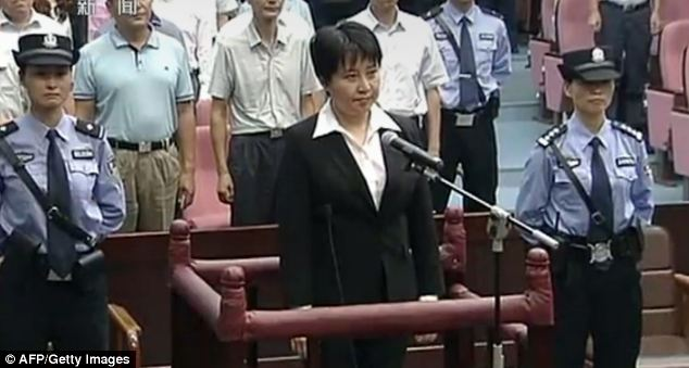 Contrast: Politician's wife Gu Kailai pleaded guilty to murder, but was given a suspended sentence