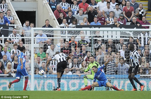 How did he miss? Remy sees his chance for a late hat-trick go begging as Newcastle slumped to a home defeat