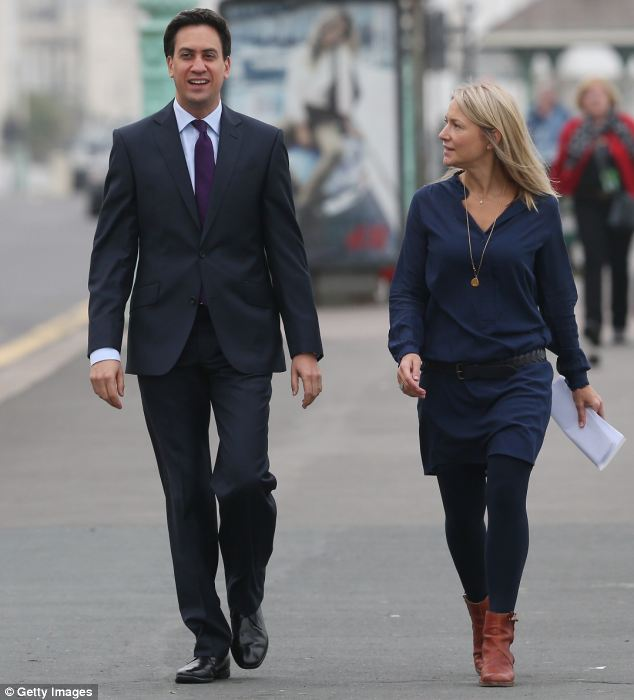 Image conscious: Mr Miliband was seen walking in Brighton with his adviser Rachel Kinnock, daughter of former Labour leader Neil