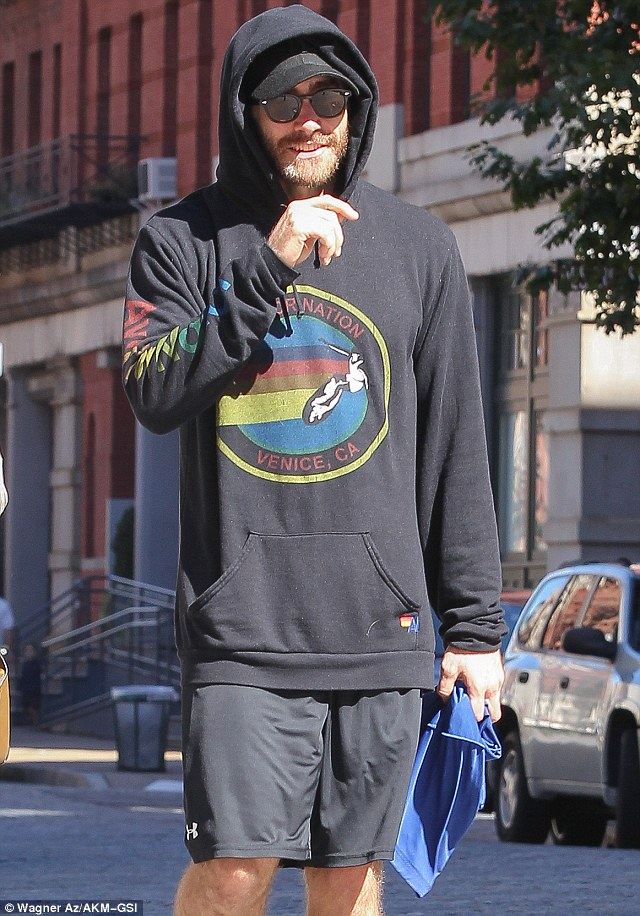 One of his winning traits: Jake Gyllenhaal flashed his charming smile after leaving the gym in New York City on Sunday