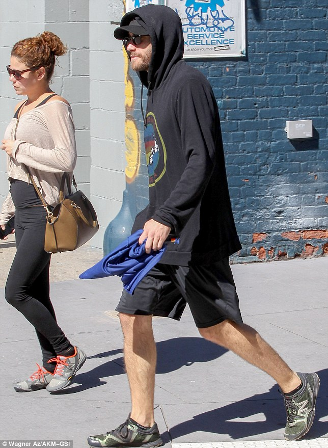 Buddy system? The actor was spotted with a female friend who he's been seen working out with before