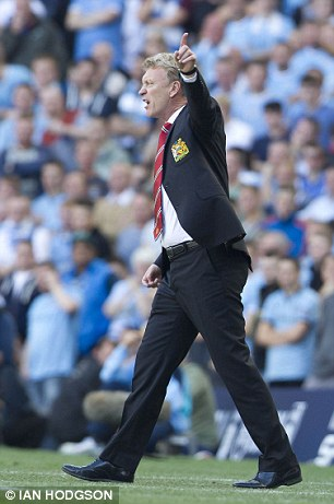 Angry: It was a hugely frustrating afternoon for Moyes
