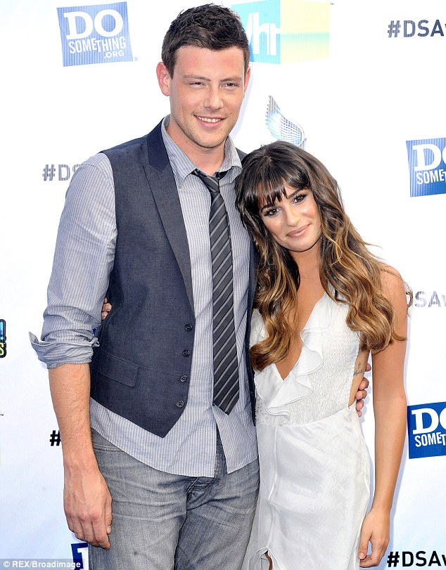 Lost love: Cory's death has been particularly tough for co-star and real life love Lea Michele, shown together in August 2012