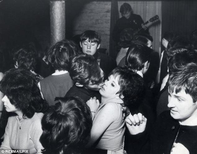 Dancing: The underground club was often full of revellers listening to the latest hits