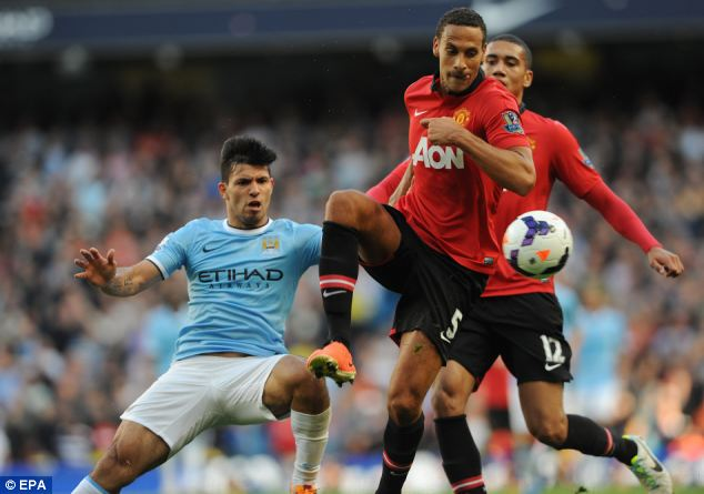 Rested: Ferdinand will not start United's Capital One Cup game with Liverpool on Wednesday