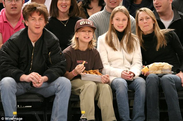 He overshadowed her: Robin has two adult children - daughter Dylan, 23, and son Hopper, 21 - with ex-husband Sean Penn, who scored two Oscars during their tumultuous 14-year marriage