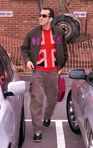 Dedicated follower of fashion: Di Canio leaves West Ham's training ground in 2002