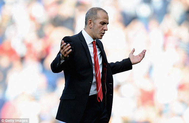 Sacked: Paolo Di Canio was removed from his job just 13 matches into his reign