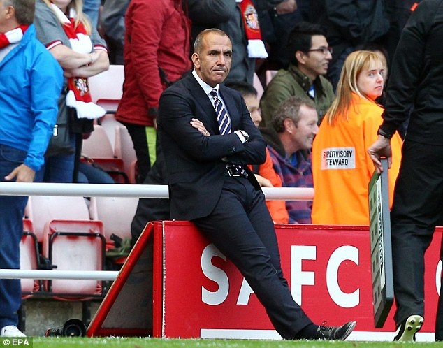 Bust up: Di Canio faced a mutiny from a number of senior players