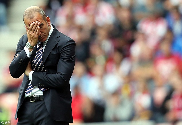 Tough to watch: Sunderland amassed just a point from a possible 15 this season, with Di Canio masterminding just three wins in 13 games